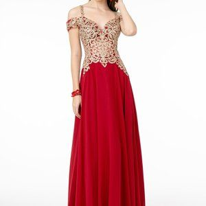 Sweetheart Neck Lace Bodice Prom Dress GSGL2998